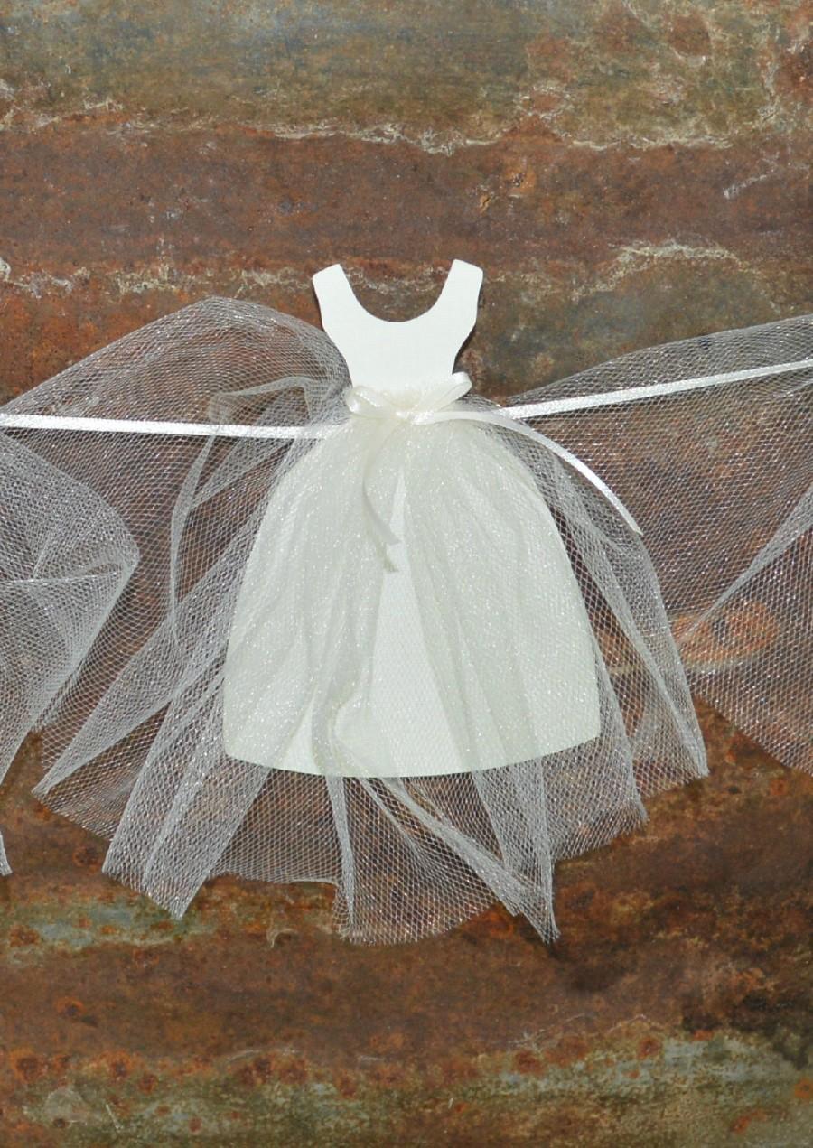 Mariage - Bridal Shower Paper Wedding Dress Garland - Bachelorette Party