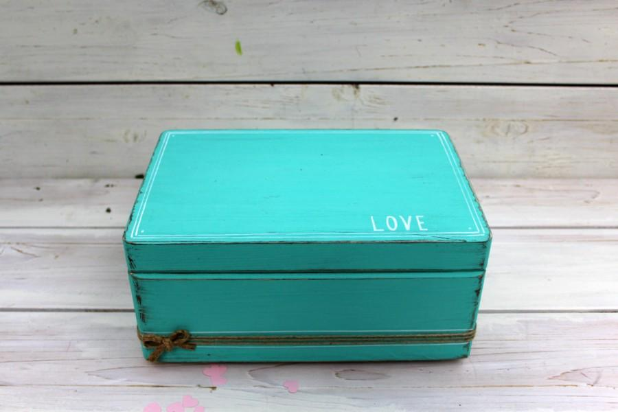 Mariage - Wedding card box, Rustic Card Holder, Choose your color