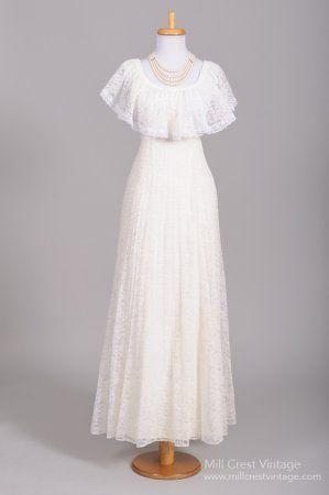 Dress 1970 Lace Shawl Vintage Wedding Gown 2583331 Weddbook
