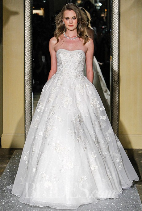 Oleg Cassini - Spring 2016 - Lace Floral Ball Gown - Stunning Cheap ...