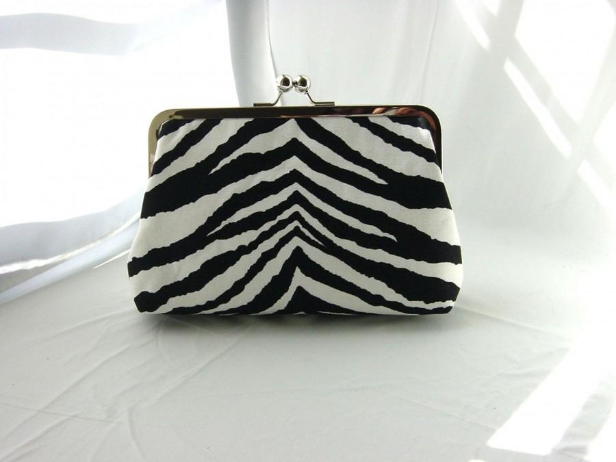 Свадьба - Bridesmaids Clutch - Bridesmaids Gifts - Wedding Gifts - Black and White Clutch - Zebra Clutch- Teresa Clutch