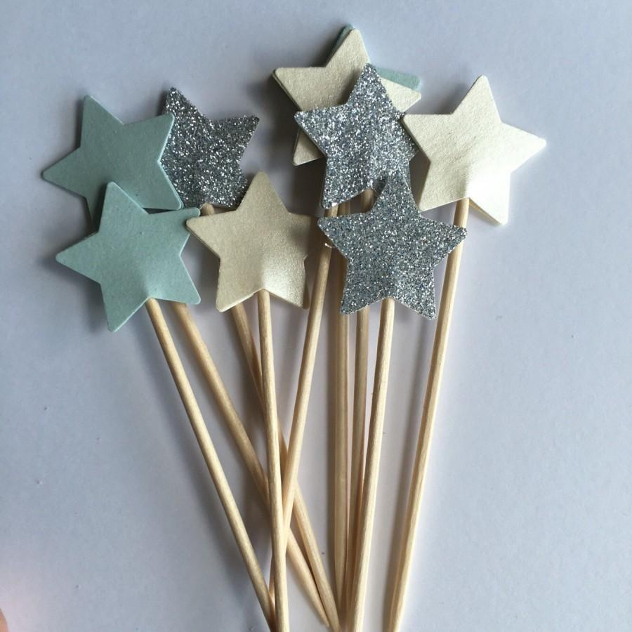 Baby Shower Cupcake Toppers Pastel Perfection Star First Birthday Cake