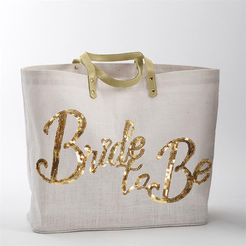 Mariage - Bride Tote Bag - Gold sequin Wedding Tote Bag, Bride Tote, Bridal Tote Bags, Bridal Shower Tote, Bride Gift Tote, Bridal Gift, Bride's Tote