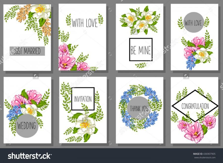 image about Printable Labels for Wedding Invitations identified as Wedding ceremony Invitation And Valentine Greeting Playing cards Mounted Of