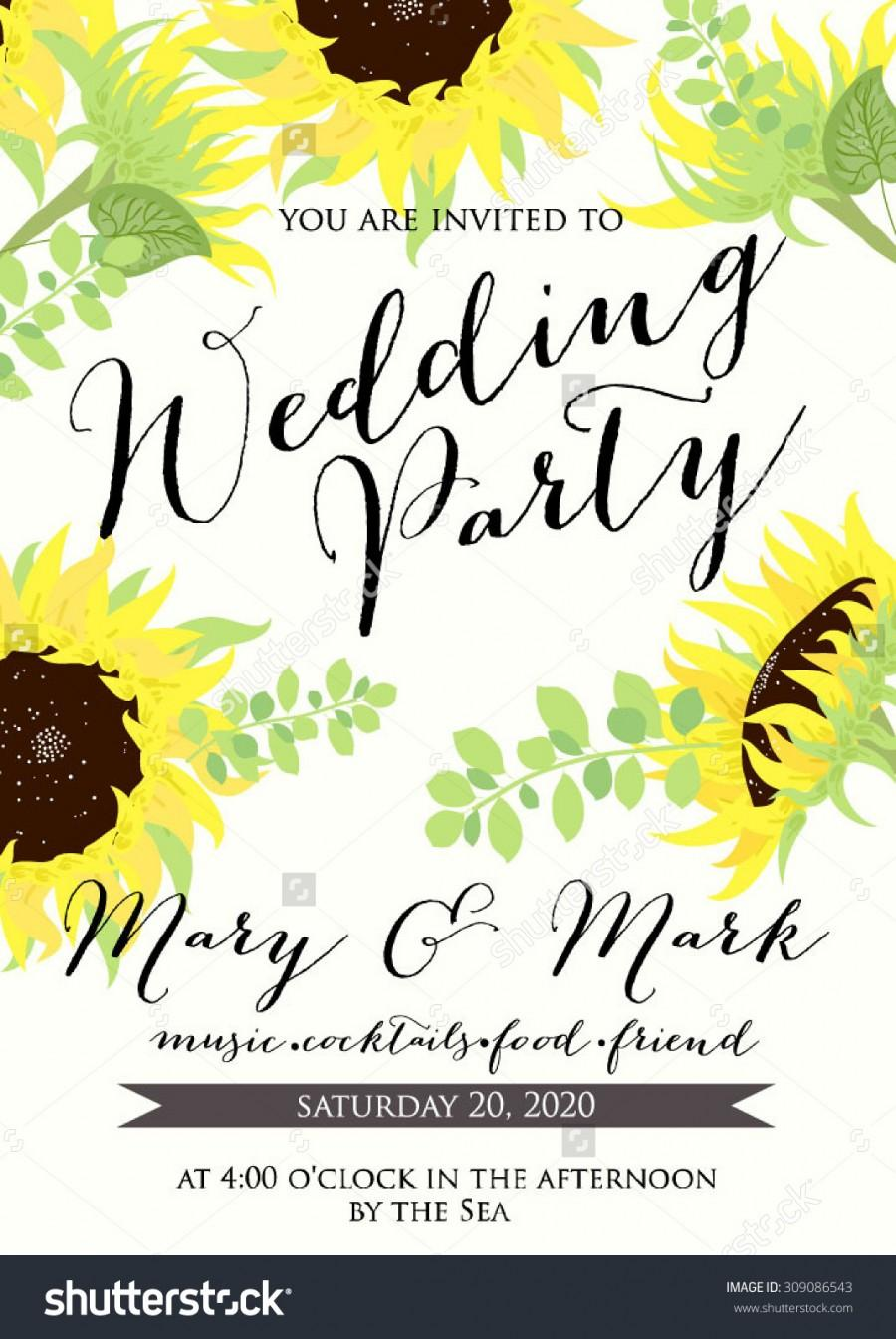 Wedding - Wedding card or invitation with floral background
