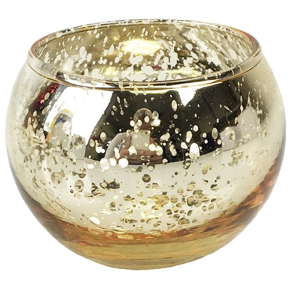 "Свадьба - Round Mercury Glass Votive Candle Holder 2""H Speckled Gold - Just Artifacts - Item:MGV020005 - Votives for Weddings, Parties, & Home Decor"
