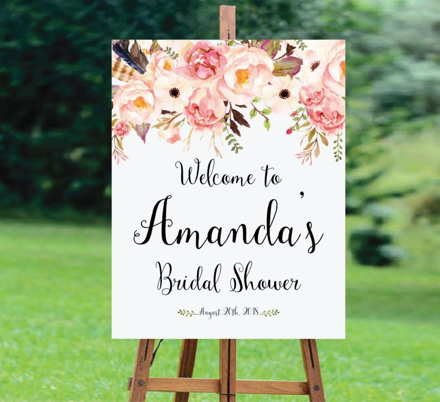 Свадьба - Bridal Shower Welcome Sign, Bridal Shower sign, Bridal Shower decoration, PRINTABLE Welcome sign, Bridal shower welcome sign