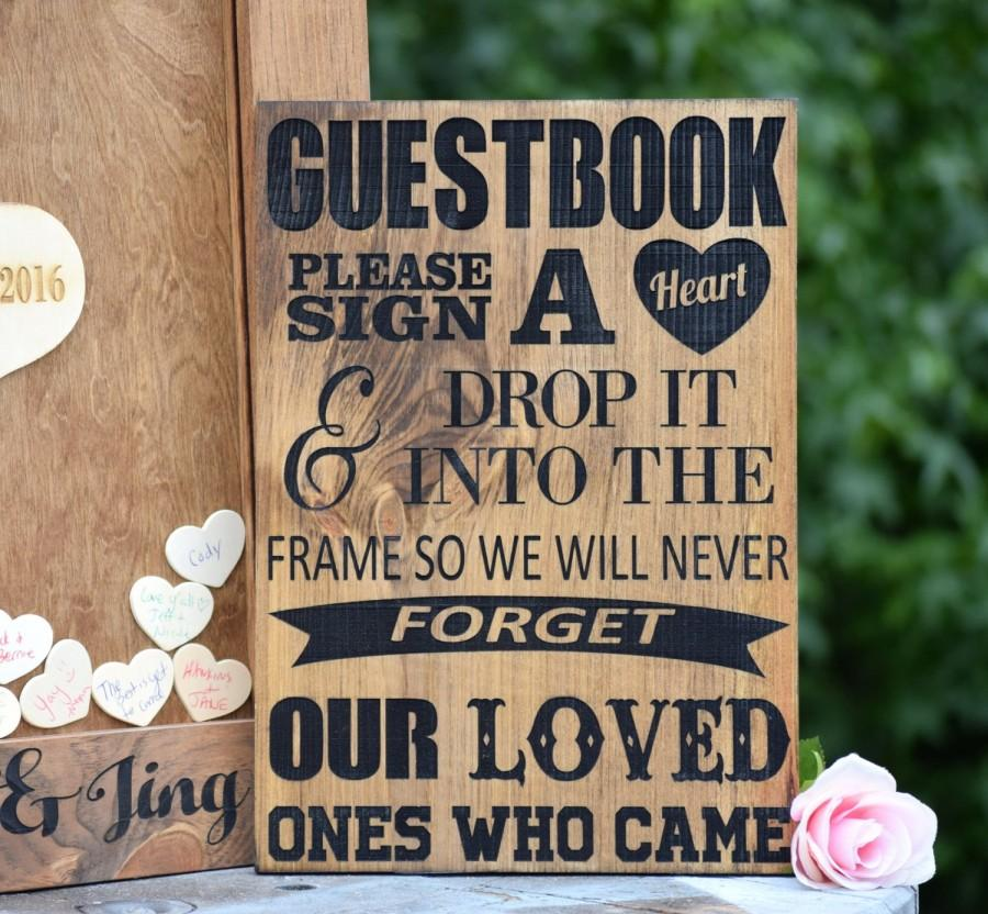 Guest Book Sign Wedding Alternative Heart Drop Box Guestbook Ideas