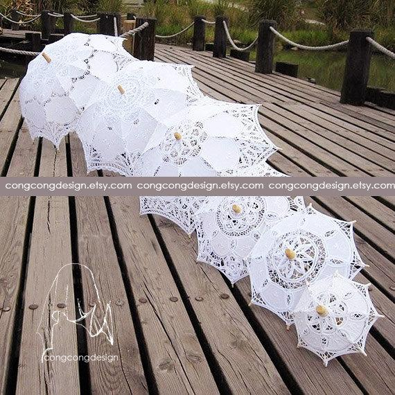Свадьба - 20cm(7.8inch)/32cm(12.6inch)/37cm(14.6inch)/46cm(18inch)Diameter(opened)Lace Umbrella 8 Size choice.