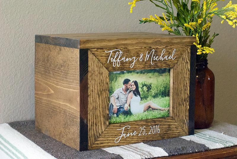 Personalized Wedding Card Box Wedding Card Box Wedding Photo Box – Picture Frame Wedding Card Box