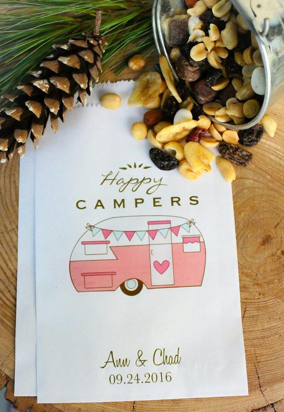 Wedding - Favor Bags - Happy Campers - Wedding favors - Treat Bags
