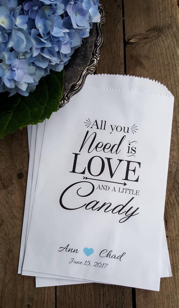 Hochzeit - Wedding Favor Bags - Treat Bags - Candy Buffet Bags