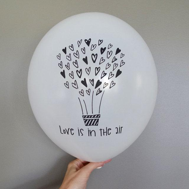 Mariage - 5x Love is in the Air Balloons