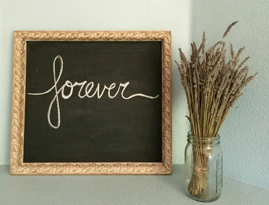 Vintage Framed Chalkboard Wedding Sign Photo Booth Prop Shabby Chic Rustic Wall Art Home Decor Upcycled Antique Floral Frame