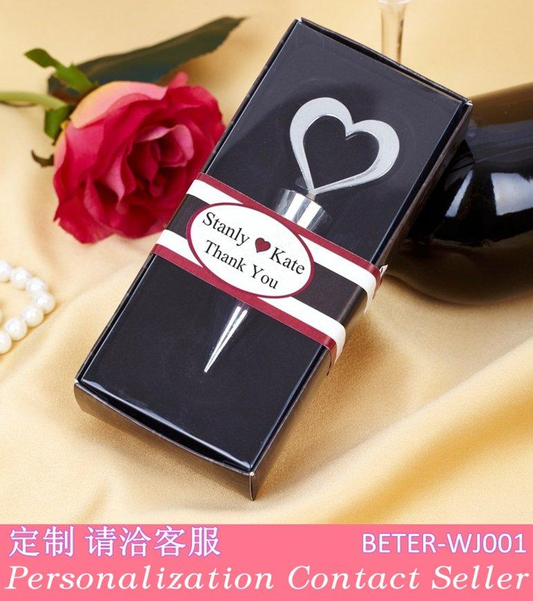 Wedding - Heart bottle stopper WJ001/a creative business gifts wedding gifts european lala single party gift