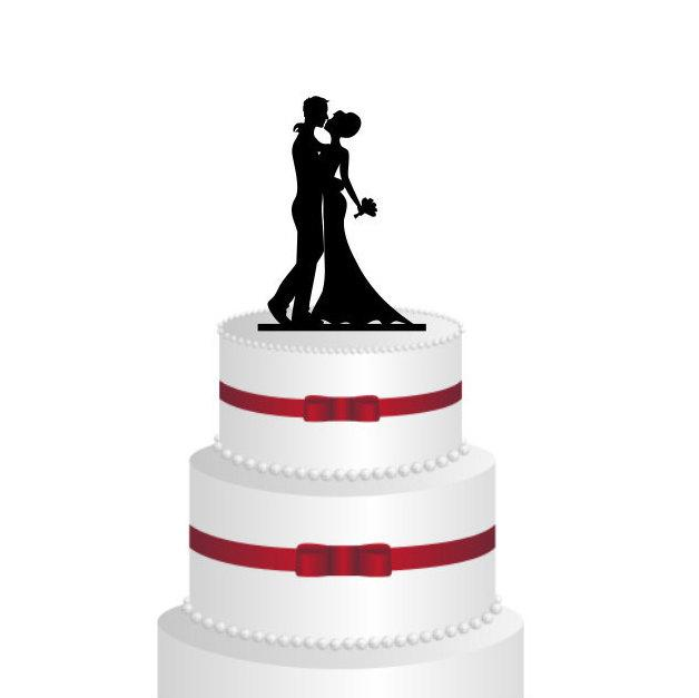 Mariage - Wedding Cake Topper Silhouette Groom and Bride - Acrylic Cake Topper