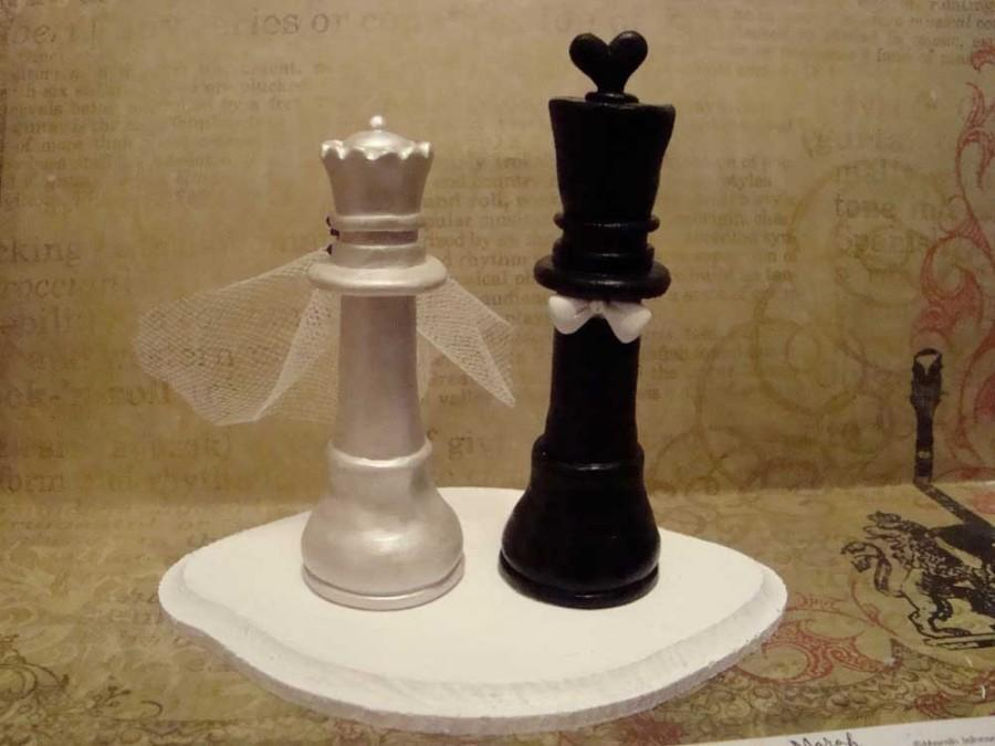 Mariage - Customized Chess Piece Cake Topper
