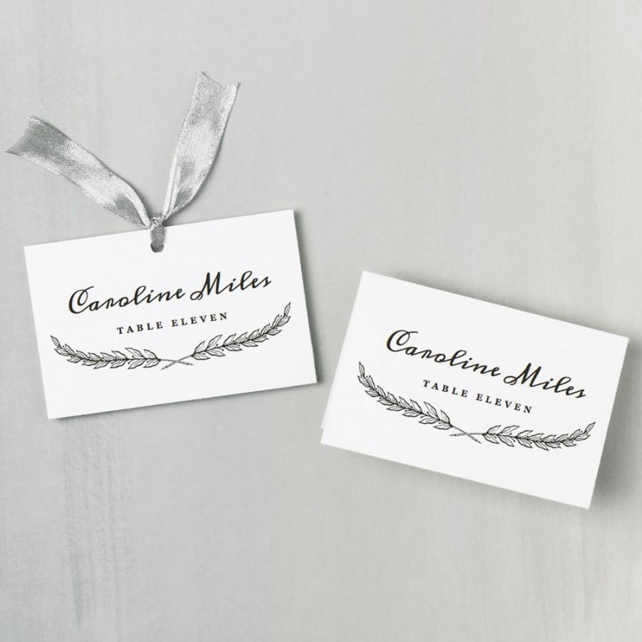 Mariage - Printable Place Card Template