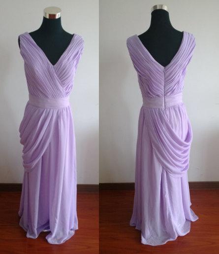 زفاف - Purple prom dress v neck prom dress long bridesmaid dresses long prom dress dress wedding dress long evening dress formal dress ruffles
