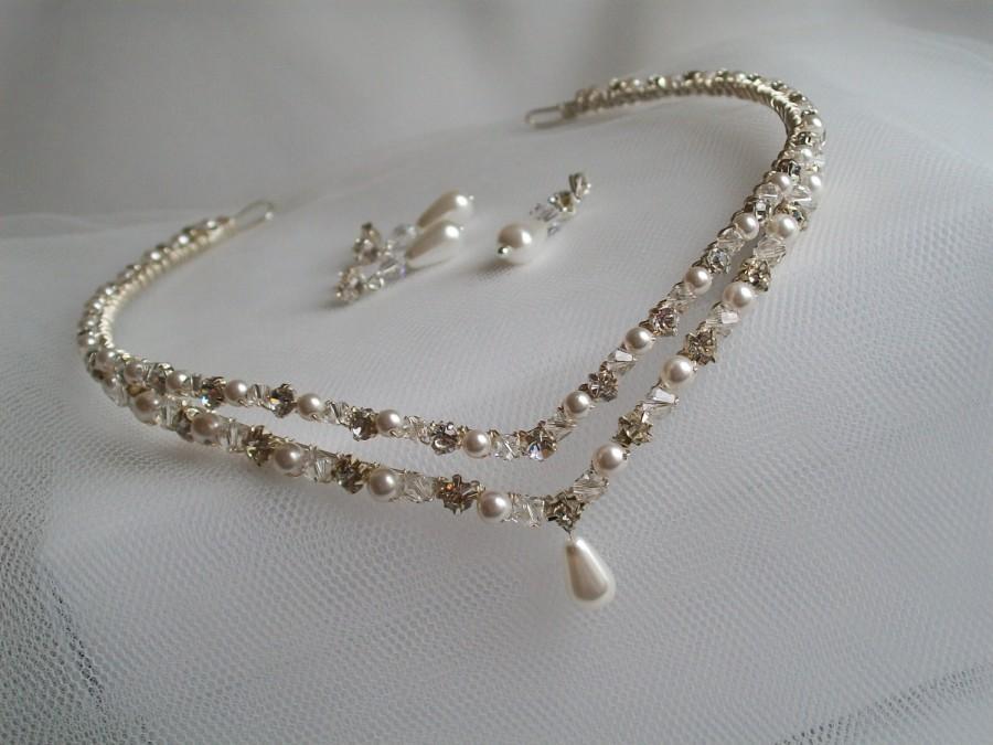 Mariage - handmade wedding  / bridal  / forehead /  headband tiara  / circlet / tiara