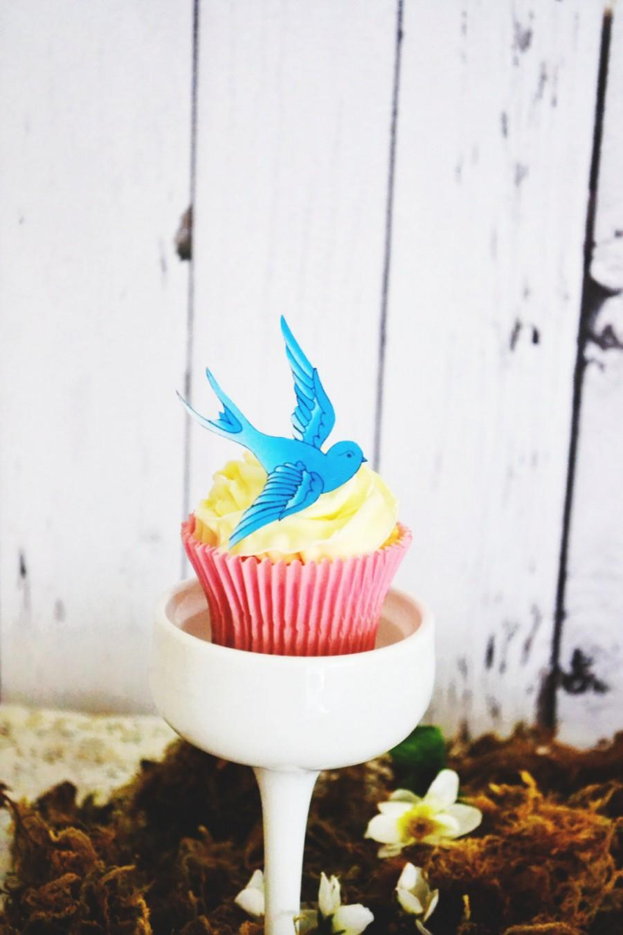 Mariage - Wedding Cake Topper The Original EDIBLE Blue Sparrows - Cake & Cupcake toppers - Food Accessories
