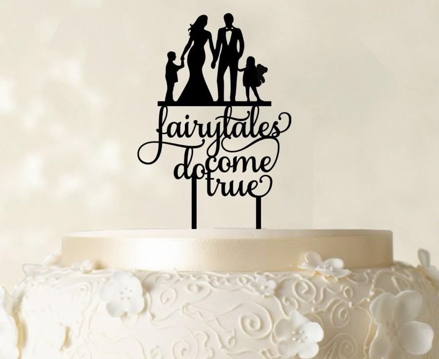 Hochzeit - Wedding Cake Topper, Family Cake Topper, Custom Cake Topper, Silhoutte Cake Topper, Glitter Cake Topper, Mirror Cake Topper CATO119