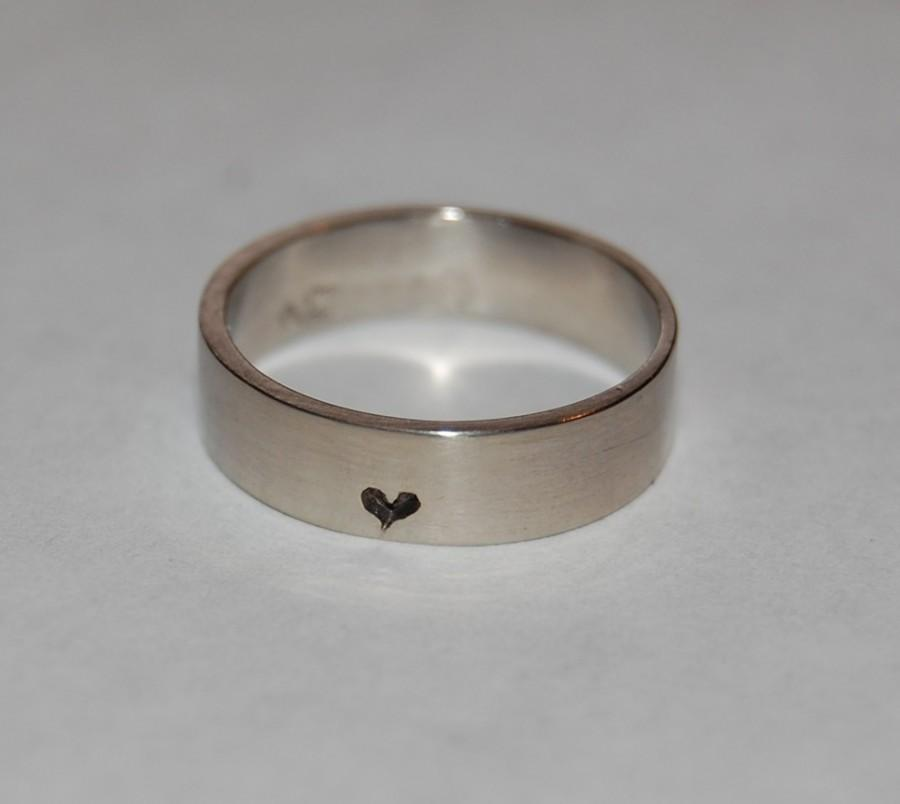 Wedding - Promise Ring, Little, little bit of Heart Sterling Silver Ring, Commitment band, Anniversary ring