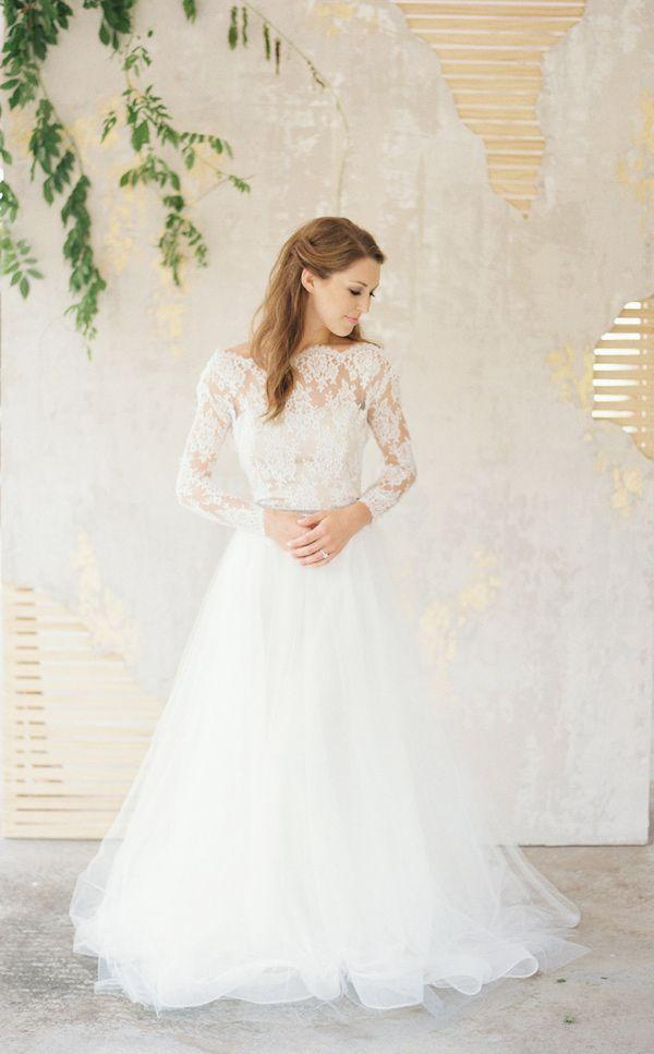 Mariage - Wedding Dresses,lace Wedding Dress,long Sleeve Bridal Gown,cheap Wedding Dress,2016 Bridal Gown,PD190120 From Focusdress