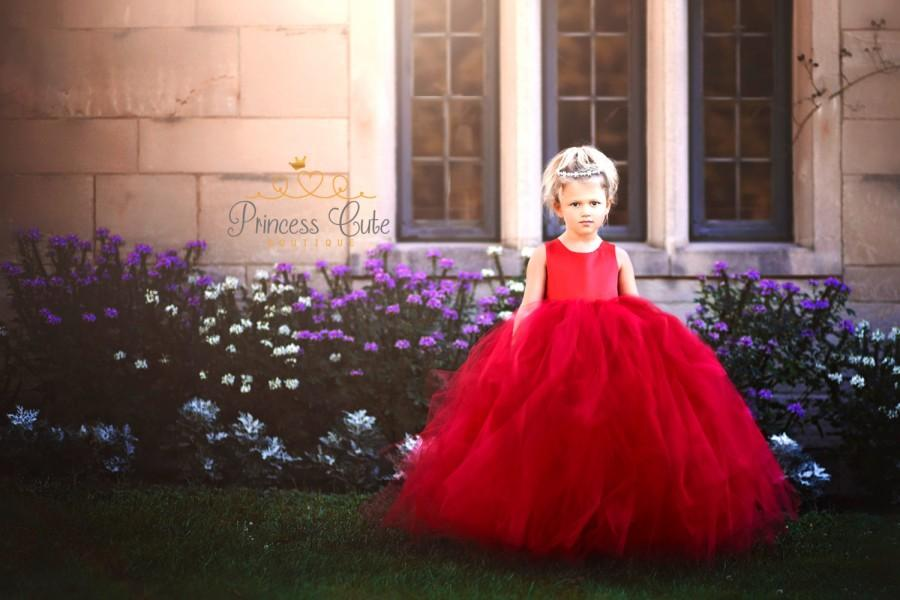 LIMITED EDITION Red Tutu Dress, Girls Ball Gown, Girl Holiday Gown ...