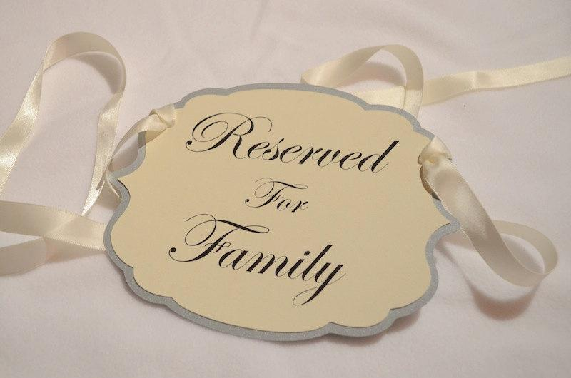 Wedding - Reserved Chair Signs in a set of 4