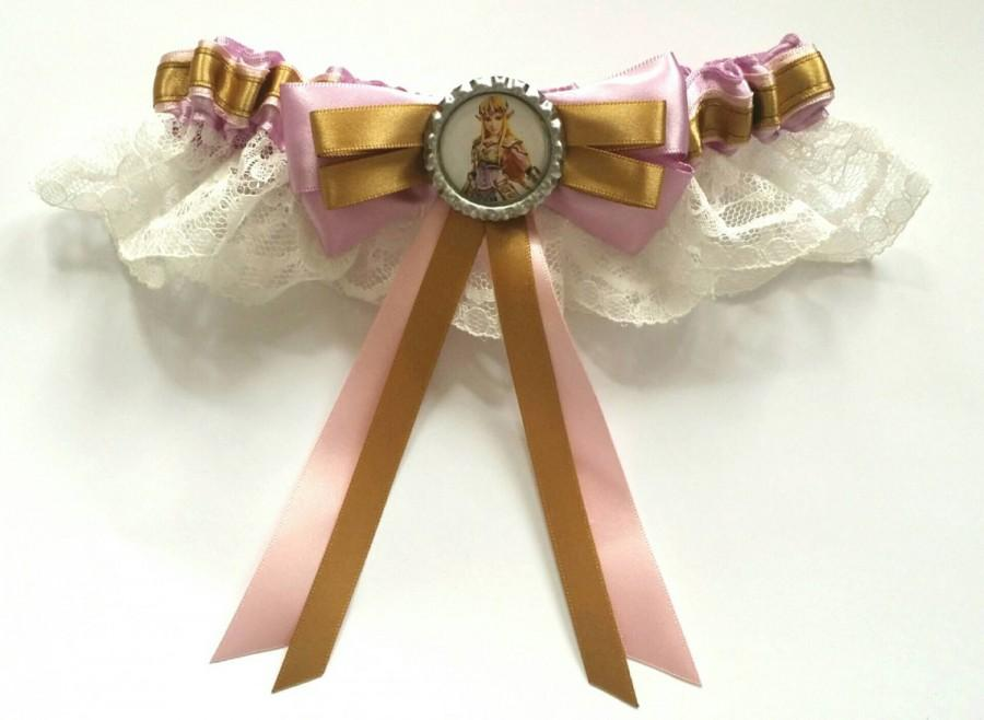 Hochzeit - Legend of Zelda,Princess Zelda/Link Satin/Satin Frill/Satin and Lace Garter