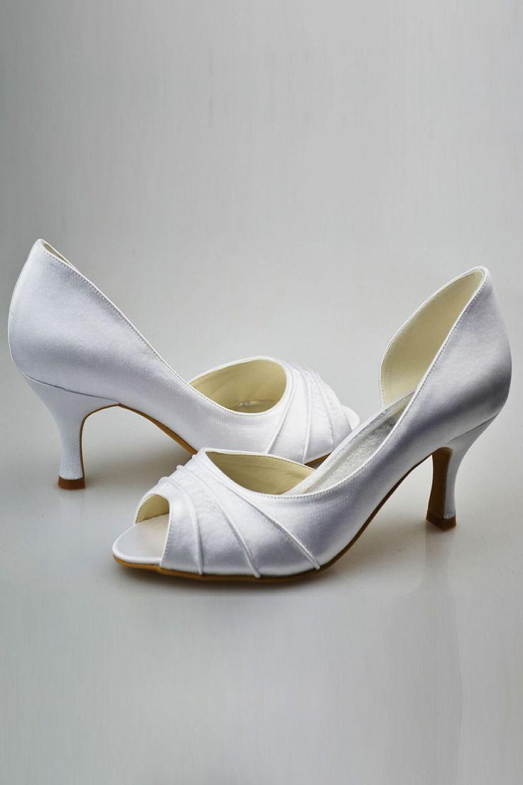 Düğün - Simple Elegant Comfortable Peep Toe Handmade Wedding Shoes S72
