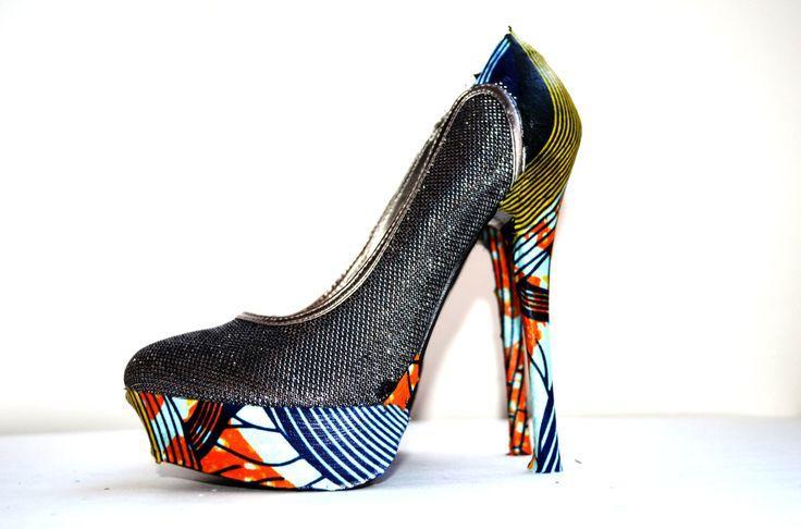 Свадьба - Blue And Orange Platform Wedding High Heels Shoes