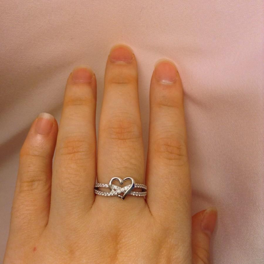 Promise Ring For Her Valentine Day Gift Heart Ring Girlfriend