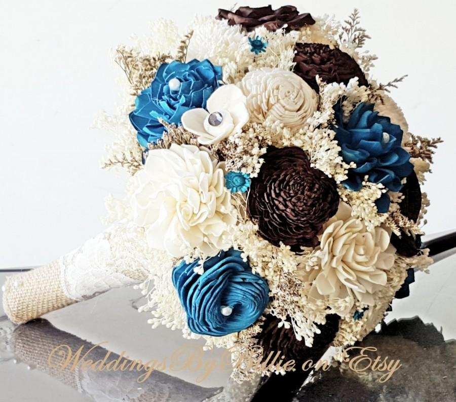 Sola Bouquets, Brown And Teal Bouquet, Chocolate Turquoise Bouquet ...