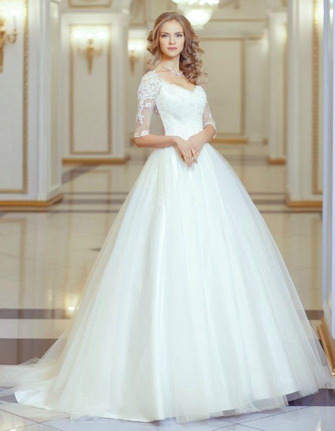 Wedding - Lace Ball Gown Tulle Wedding Dress