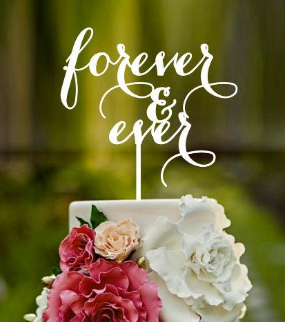 Mariage - forever & ever, wedding cake topper,names on cake, custom cake topper, cake topper, birthday cake topper, wedding cake toppers,french