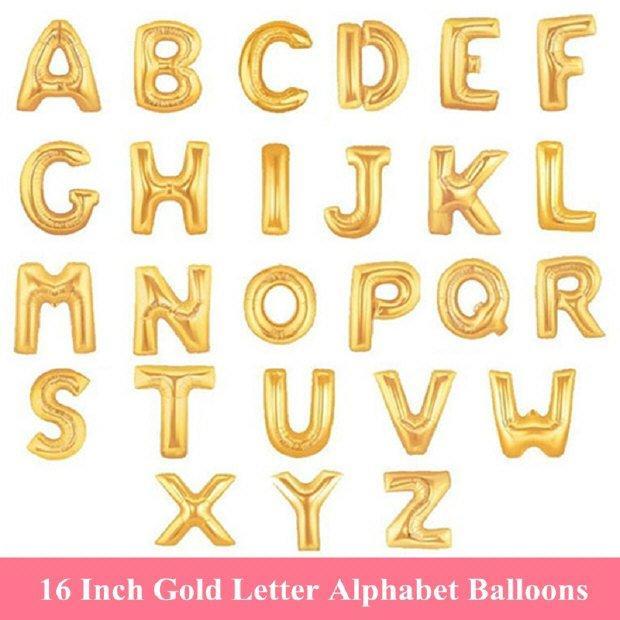 """Hochzeit - 16"""" Letter/ alphabet Balloons A-Z BETER-HH054"""