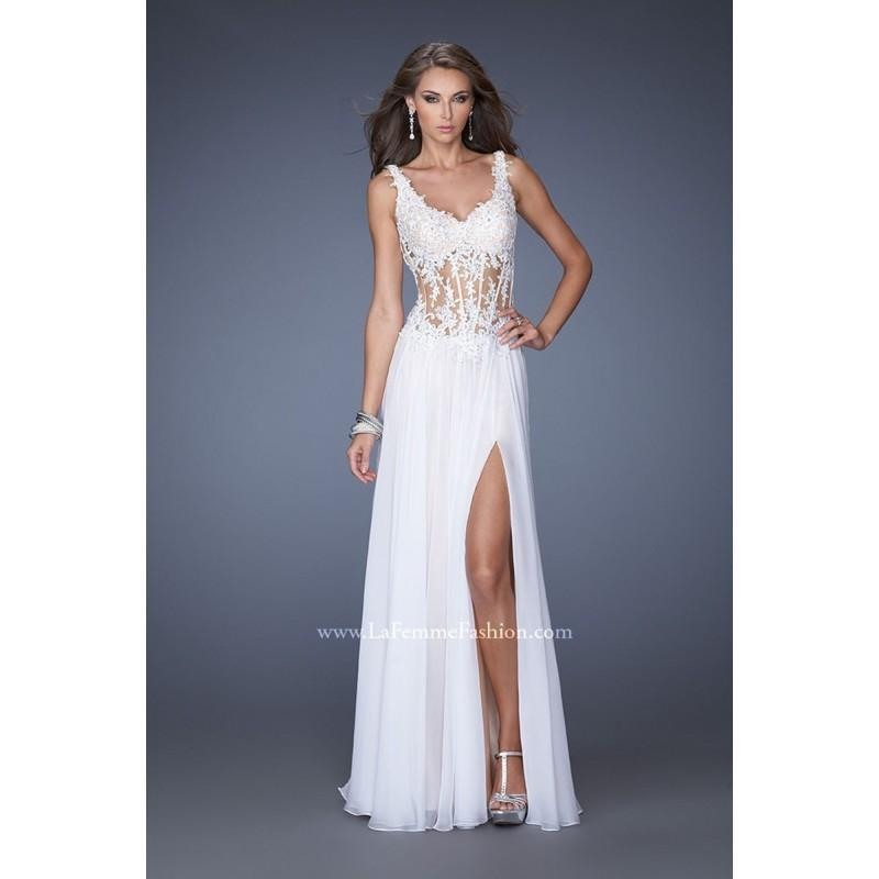 Hochzeit - La Femme 19696 Dress - Brand Prom Dresses