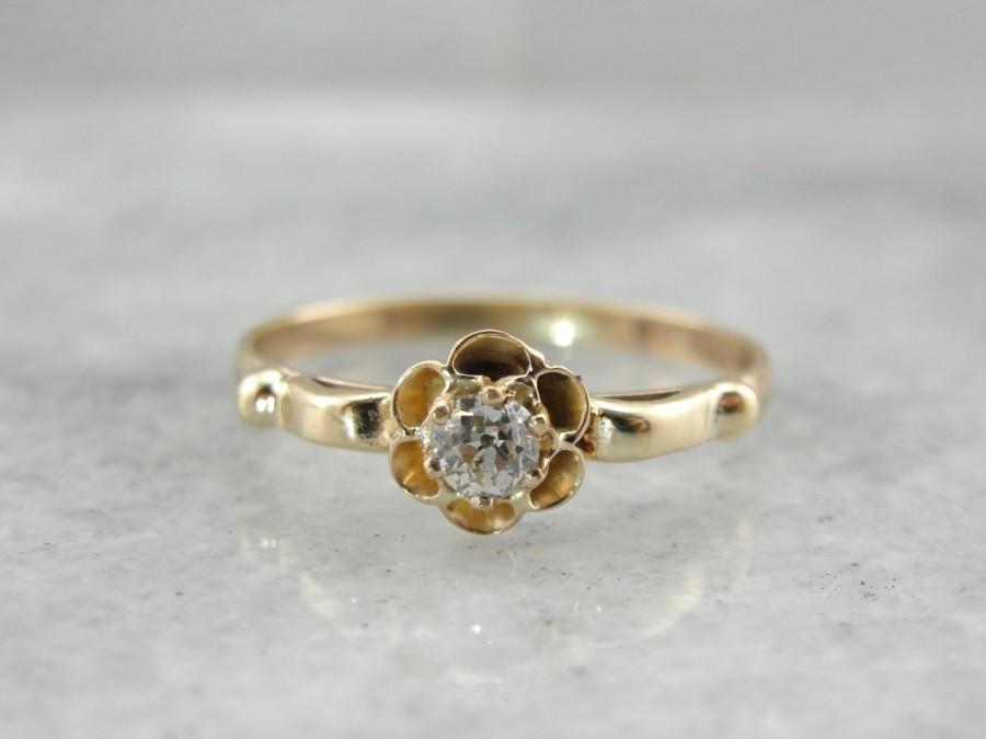 Mariage - Old Mine Cut Diamond Sweetheart Buttercup Mounting E16F01-N