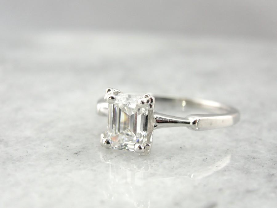 Mariage - Fine Diamond, Solitaire Emerald Cut Diamond Engagement Ring  TVNZLF-N