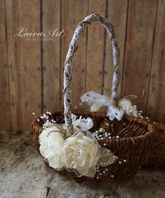 Rustic Flower Girl Basket Rustic Wedding Decoration 2584323 Weddbook