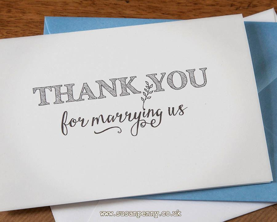 Officiant Vicar Priest Wedding Thank You Cards A6 Card Envelope Set Wed010