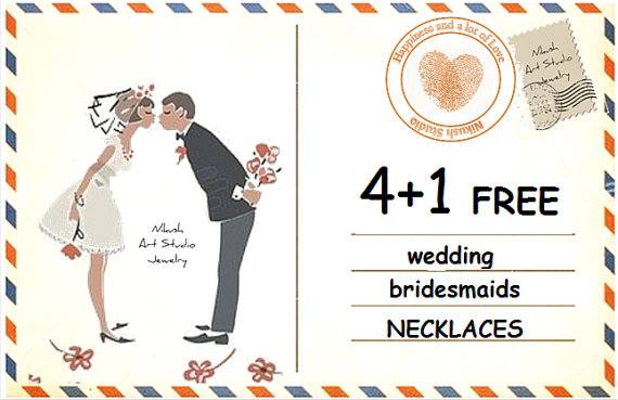 Wedding - 4 1 FREE Wedding Sale Wedding Sale on necklaces