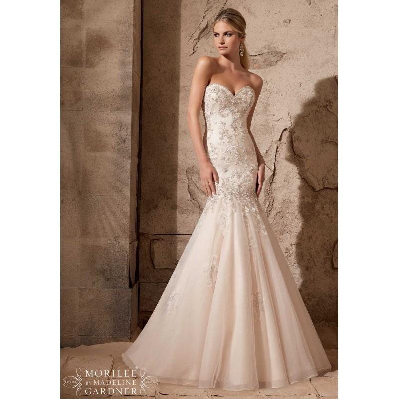 Mori lee 2720 beaded lace mermaid wedding dress crazy for Mori lee wedding dress sale