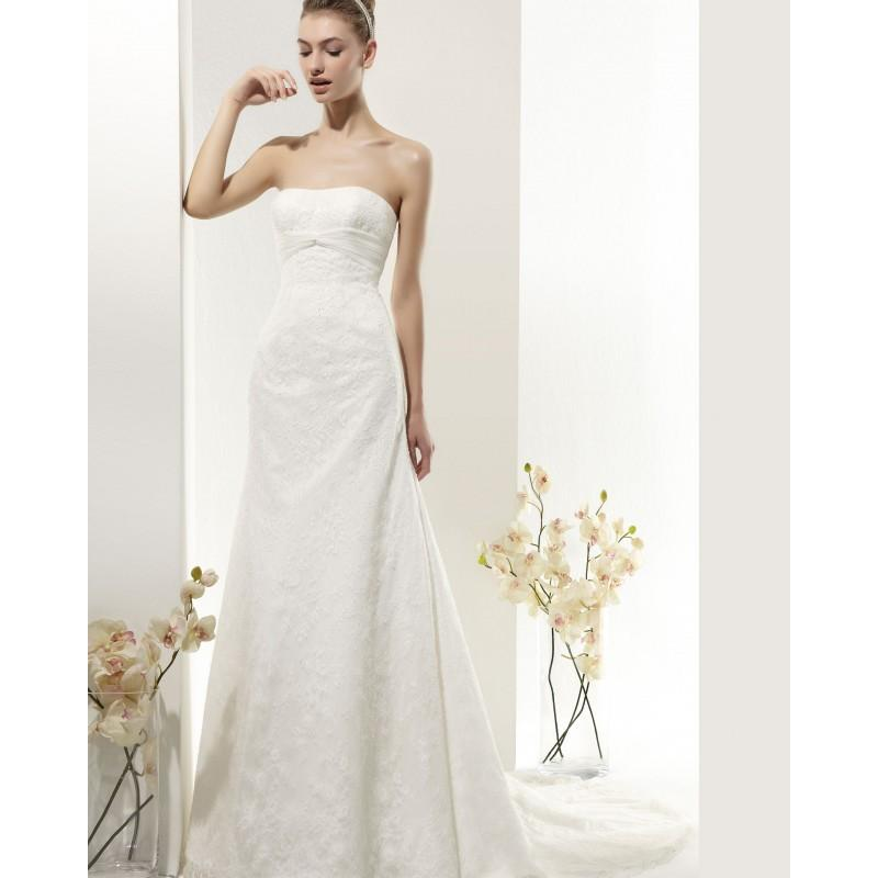 Mariage - Elegant A-line Detachable Spaghetti Straps Sweep/Brush Train Lace Wedding Dresses - Dressesular.com