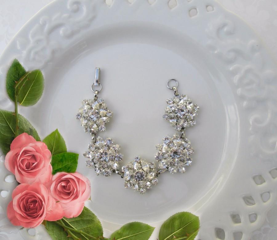 Hochzeit - wedding bracelet, crystal jewelry, Vintage style, Bridesmaids bracelet, Bridal bracelet, Bridesmaid gift idea