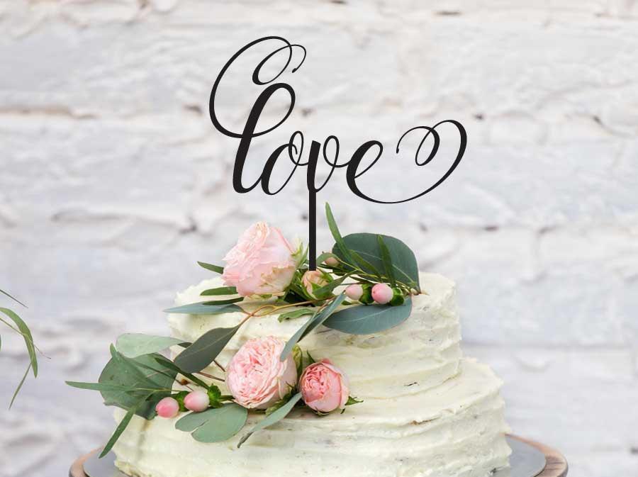 "Свадьба - Wedding and Engagement Acrylic Cake Topper - ""Love"" (ARC1620) MADE IN Australia"