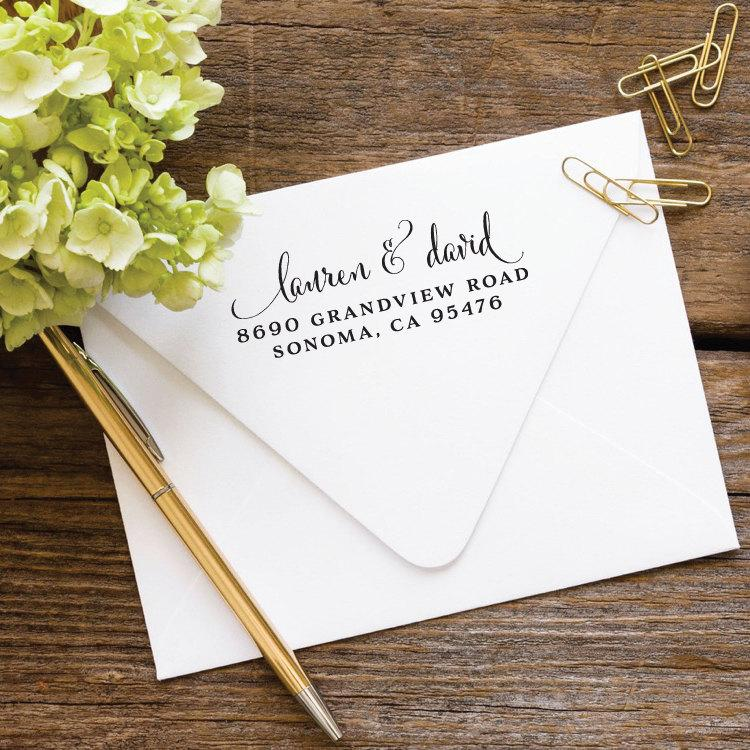 Свадьба - Return Address Stamp Self Ink, Custom Stamp, Self Inking Stamp, Wedding Address Stamp, Custom Address Stamp