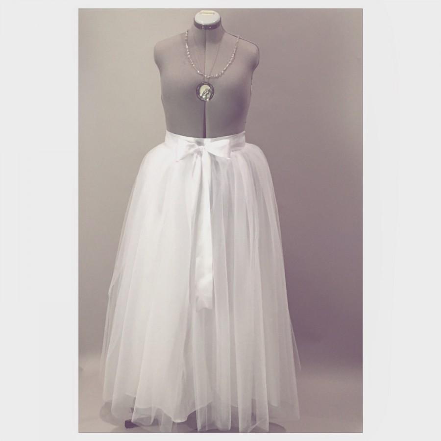 Wedding - White Wedding Tulle Skirt Adult Tutu Skirt Modern Bridal